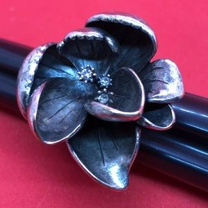 Fossil Flower Ring Size 7
